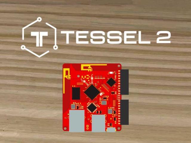 tessel 3 logo and a board
