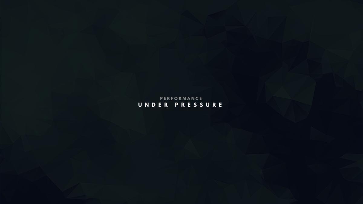 Performance Under Pressure title slide