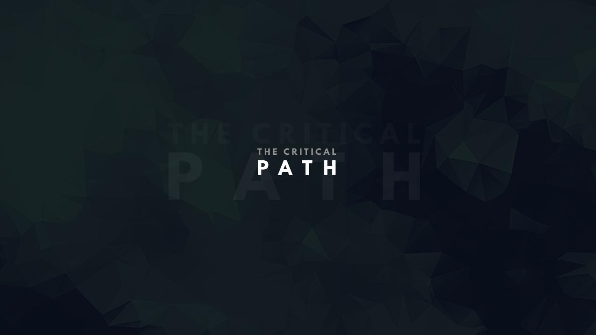 The Critical Path title slide