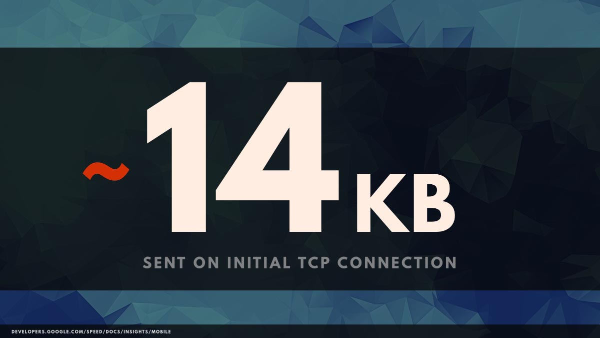 ~14KB sent on initial TCP connection
