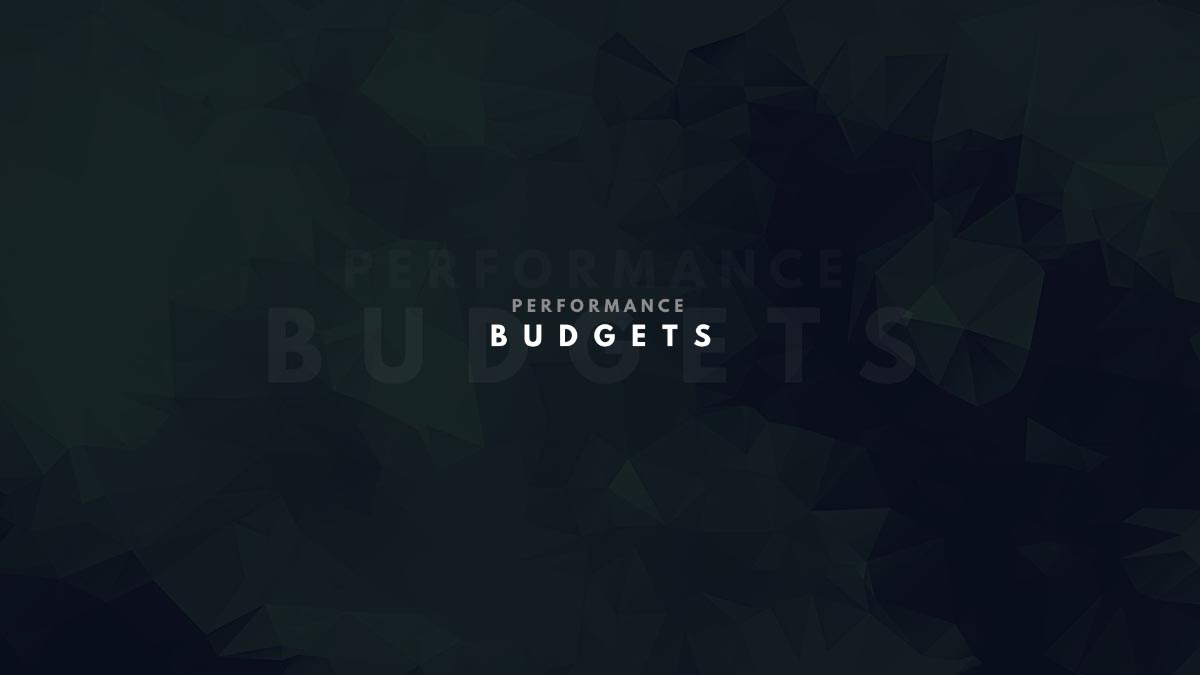 Performance Budgets title slide
