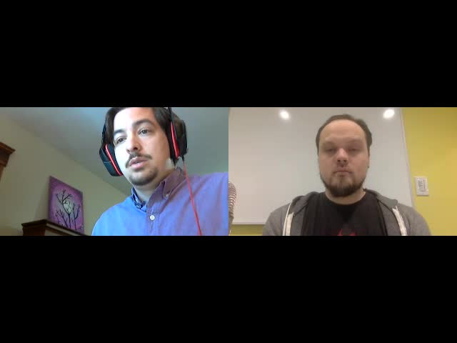 Split screen of Matt and Z at the screencast