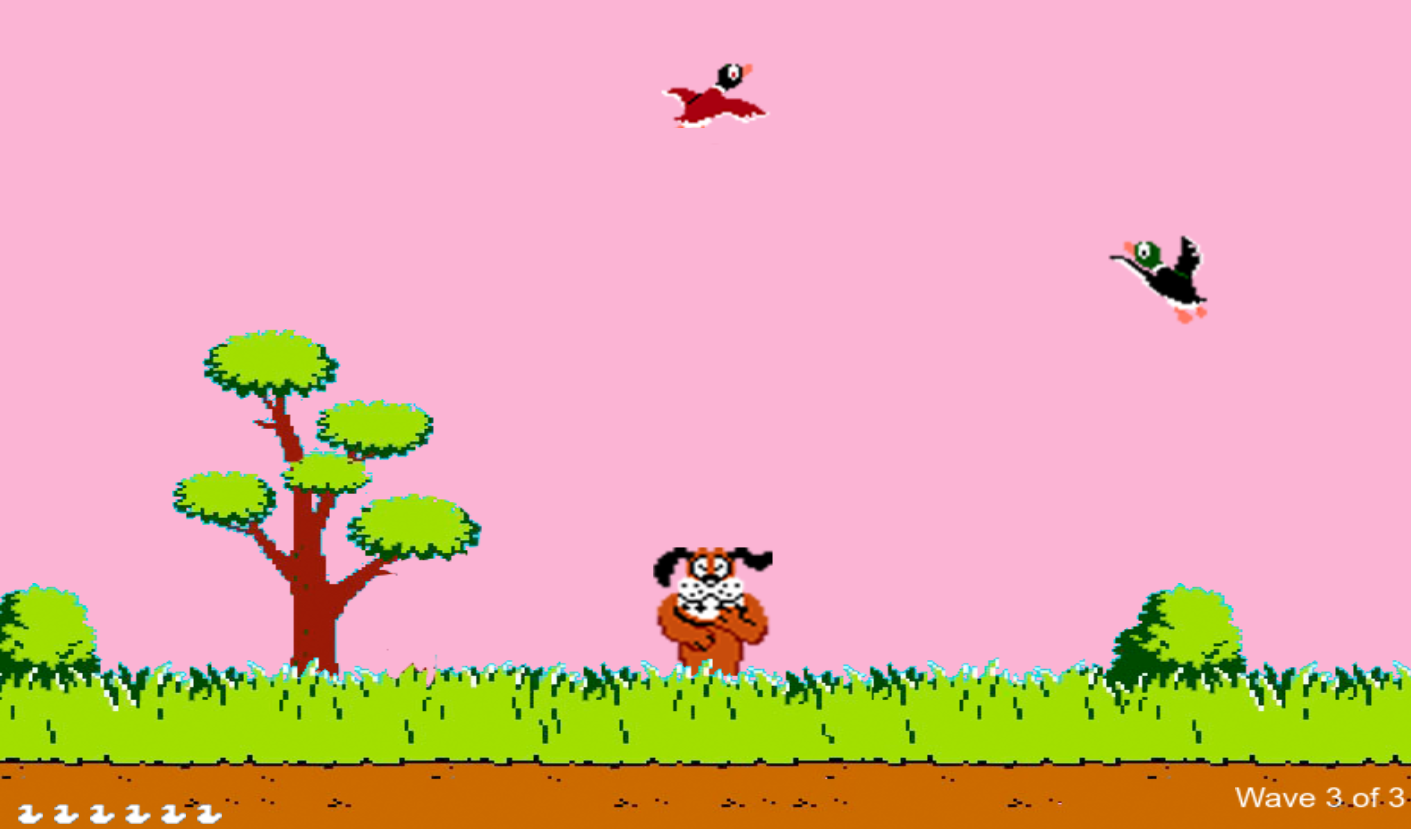 Screenshot of DuckHuntJS game