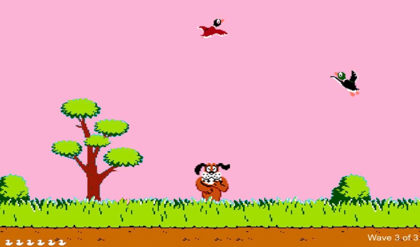 Screenshot of DuckHuntJS game