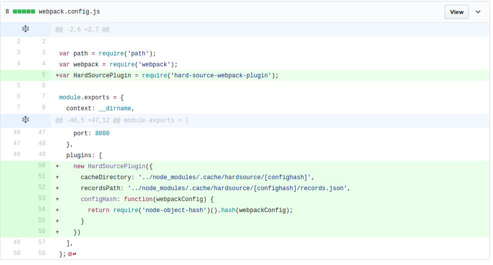 Screencast Transcript: Improving Webpack Build Times - tools and