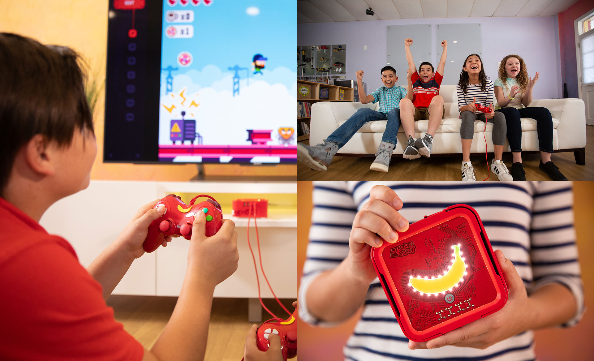 Picture of children using Gamebender.